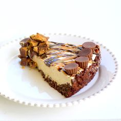 Frozen Peanut Butter Cheesecake.  Perfect - I'll make it for the Hub and not be tempted since I hate peanut butter cups.  Yes, I hate them...