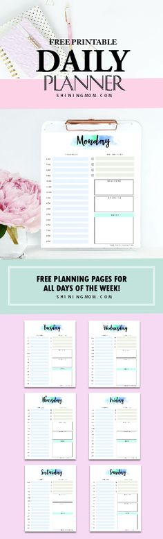 Get this free daily planner printable to make your day a litte bit organized and blissful.