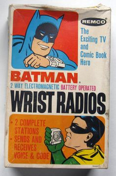 REMCO: 1966 Batman Wrist Radios #Vintage #Toys