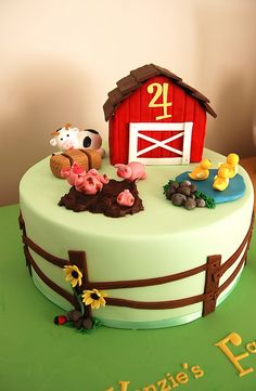 Farm cake by Jen Geha, via Flickr