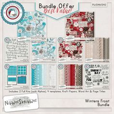 Personal Use :: Bundled Deals :: Winters Frost Bundle by Nibbles Skribbles