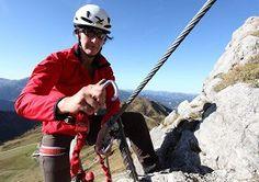 Wunderschöne Aussicht vom Klettersteig