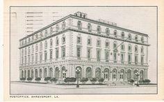 Vintage United States Post Office Shreveport, LA Louisiana Post Card Postcard