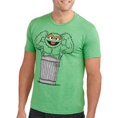 f0529ae4 Grouchfield Oscar Men's Graphic Tee: Men : Walmart.com Sesame Street  Grouch, Big