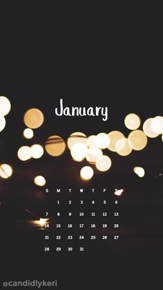 Lights New Years January calendar 2018 wallpaper you can download for free on the blog! For any device; mobile, desktop, iphone, android!
