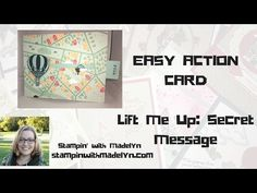 EASY Secret Message Card with Stampin' Up's Lift Me Up Set - YouTube