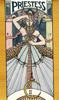 Four illustrated Tarot Cards of the major arcana deck (Watercolor on Arches paper)
