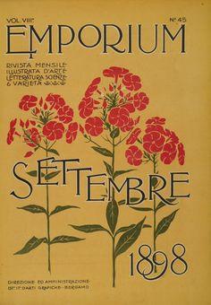 """""""Emporium"""", vintage Italian magazine - cover of September 1898 issue"""
