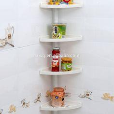 Bon 1858 SQ 4 Tier Plastic Bathroom Corner Shelf For Bathroom