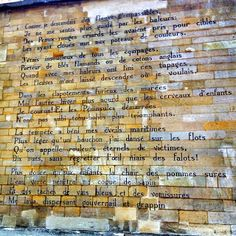 Rimbaud's Poem on a Wall in Rue Férou