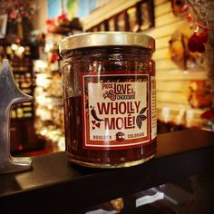 There's not a whole lot of products in our shop that have #onions and #chili as the first #ingredients! Introducing our Wholly #Molé #Chocolate #Sauce - perfect for #chicken and more! Chef Sarah's twist includes #pinenuts and #cherries! YUM!