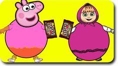 Peppa Pig Family New Episodes Parody | Masha Playing Gumball Machine
