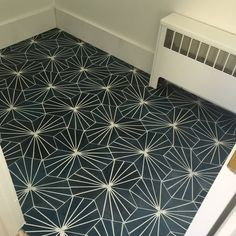 Shop Menara in Navy Blue & White Handmade Moroccan Tile,Pack 12 - Ships To Canada - Overstock - 19661850 Moroccan Bathroom, Tiles Price, Bathroom Pictures, Bathroom Ideas, Bathroom Makeovers, Bathroom Inspiration, White Tiles, Color Tile, Blue And White