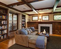 Family Room Craftsman Interior Design