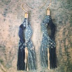 Indigo dye hand woven pierces  for your outfit✨  #handwoven#accessory#earthcolor#indigodye#indigo#natural#nature#yoga#yogapeople#yogini#beautiful #beautifulday#summerinnyc#naturaldye#madeinnyc#love#loveweaving#lovehandmade#handmade#blue#indigoblue#happy#mindful#healing#happymind#shinonyc