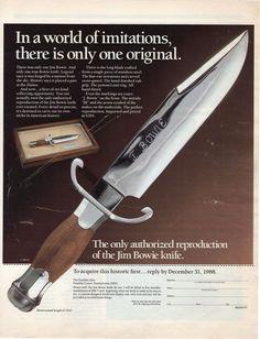 jim bowie knife franklin mint 1988 Magazine Ad  | eBay