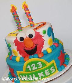 Elmo Party Birthday Cake #Elmo #Birthday