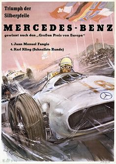 European Grand Prix at the Nürburgring, 1954. As he had done in Reims, Juan Manuel Fangio also won his next race but one, the European Grand Prix at the Nürburgring on 1 August 1954.