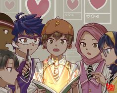 Boboiboy Anime, Anime Guys, Anime Art, Boboiboy Galaxy, Anime Galaxy, Animation Series, 3d Animation, I Wan, A Team