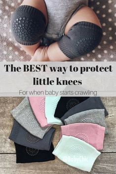 Protect your baby from injury while crawling with these protective baby knee pads. #Baby #CrawlingBaby #BabyGifts #Ad
