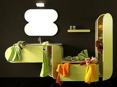 Flux, Muebles de Baño de Diseño con Color y Curvas