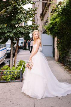 "Nouvelle Amsale ""Erin"" Photo: @Brian Leahy Photography #wedding #bride #amsale"