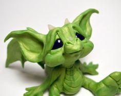 Original Baby Wish Dragon  Art Doll Sculpture