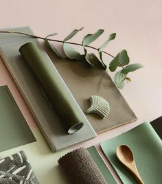 S A G E Shades of Sage green in some favourite Subways and mini plumage leaves. Ecole Design, Mood Board Interior, Green Colour Palette, Color Palettes, Material Color Palette, Pink Tiles, Material Board, Mood And Tone, Green Home Decor