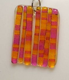 Faux fused glass; Easy! Shrink plastic
