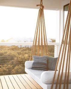 Charming Porch Swing Design Ideas www. Home Design: 80 Charming Porch Swing Design Ideas www.Home Design: 80 Charming Porch Swing Design Ideas www. Diy Furniture, Furniture Design, Luxury Furniture, Modern Furniture, Hanging Furniture, Hanging Beds, Diy Hanging, Farmhouse Furniture, Furniture Projects