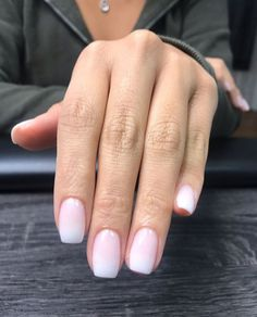 Ombré is hands down The Most Wanted Nail Color . Ombré is hands down The Most Wanted Nail Color 😍 SNS Nude Nails, Acrylic Nails, Gel Ombre Nails, Gel Nail, Milky Nails, Nagel Gel, Short Nails, Short Natural Nails, Summer Nail Art