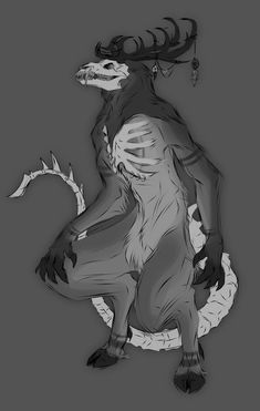 I just had the sudden urge to make a wendigo OC because why the hell not Wendigos are heckin' badass, where has this thing been all my life? Monster Concept Art, Fantasy Monster, Monster Art, Monster Drawing, Mythical Creatures Art, Mythological Creatures, Dark Creatures, Fantasy Character Design, Character Art
