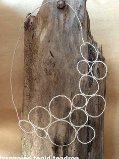 Turquoise Tepid Teadrop: Diy Kette aus Silberdraht // Wire Necklace