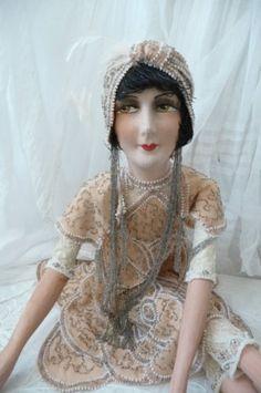 ANTIQUE-FRENCH-BOUDOIR-DOLL-FLAPPER-PARIS-C-1920-FASHION-DOLL-034-LOUISE-BROOKS-034