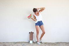 Via Lady Slider..   #fruit #watermelon #summer #fashion #photoshoot