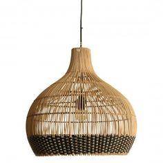 Weave lamp natural/black - large