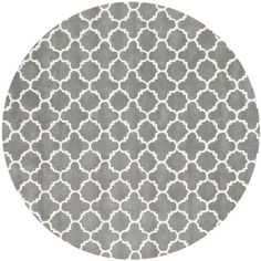 @Overstock.com - A contemporary design and dense, thick pile highlight this handmade rug inspired by Moroccan patterns with today's updated colors.http://www.overstock.com/Home-Garden/Handmade-Moroccan-Dark-Grey-Wool-Rug-7-Round/7751578/product.html?CID=214117 $264.99