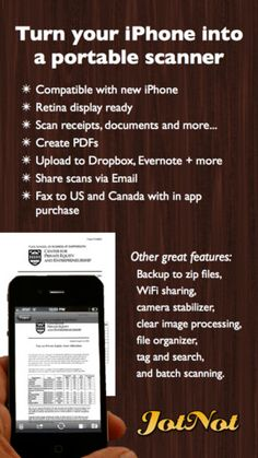 JotNot Scanner Pro: scan multipage documents to PDF for iPhone, iPod touch, and iPad on the iTunes App Store