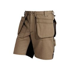 Blaklader 1640 Heavy Worker Shorts - Khaki/Black - If it's too hot for the toughest workpants available, you might as well wear the toughest shorts available. | FullSource.com