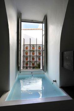 Located in Anacapri on the island of Capri in Italy, Capri Suite is a two-room boutique hotel with rustic contemporary Mediterranean interior design and century architecture. Interior Architecture, Interior And Exterior, Suites, Dream Bathrooms, Luxury Bathrooms, Design Case, My Dream Home, Ideal Home, Bedroom Decor