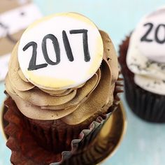 Happy New Year! It's officially 2017! I'm wishing you the very best year ahead!  Today's treat... another festive cupcake. Life is good.  Resolutions? Yes or No?