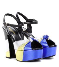 SAINT LAURENT Candy 80 Platform Sandals. #saintlaurent #shoes #current week