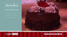 """""""Who doesn't love ganache, baby?"""" Chocolate Ganache Basics (video) featuring The Cake Boss. Chocolate Ganache Cake, Chocolate Desserts, Cupcakes, Cupcake Cakes, Cake Boss Bakery, Syrup Cake, Frosting Tips, Baking Party, Pastel"""