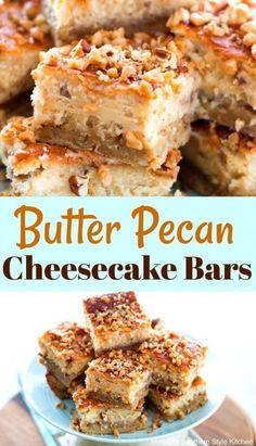 Mini Desserts, Pecan Desserts, Pecan Recipes, Healthy Recipes, Just Desserts, Gourmet Recipes, Delicious Desserts, Dessert Recipes, Bar Recipes