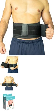 a6afb1b1b34 Seat and Posture Cushions  Adjustable Brace Back Belt Pain Relief Lumbar  Waist Support Lower Back