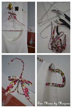 DIY Cintre en tissu fleuri Fées Mains by Marjorie