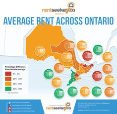 The Average Cost of Rent for Apartments, Condos and Homes across Ontario via www.RentSeeker.ca