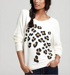 Wildfox Leopard Sweater. Adorable!