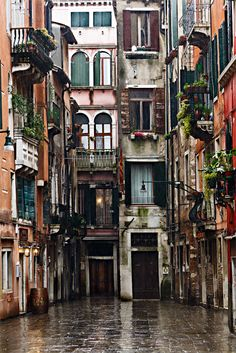 Venice, Italy. How inspiring is this street I could. Wright a poem about it.