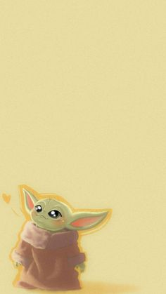 This is a cute background for your phone! Cartoon Wallpaper Iphone, Star Wars Wallpaper, Cute Disney Wallpaper, Cute Wallpaper Backgrounds, Cute Cartoon Wallpapers, Walpapers Cute, Cute Art, Yoda Drawing, Star Wars Baby